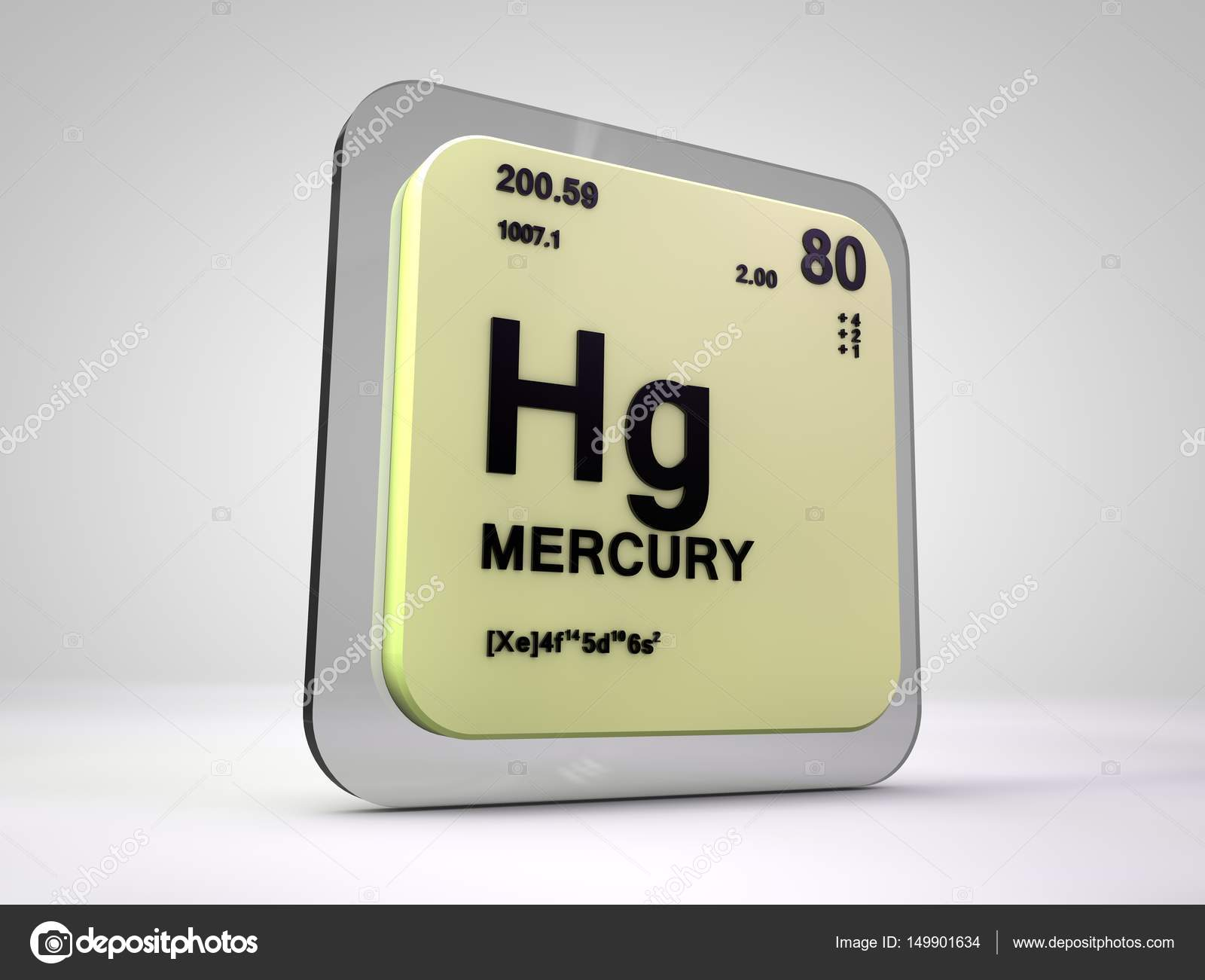 Mercury hg chemical element periodic table 3d render stock mercury hg chemical element periodic table 3d render stock photo buycottarizona Gallery