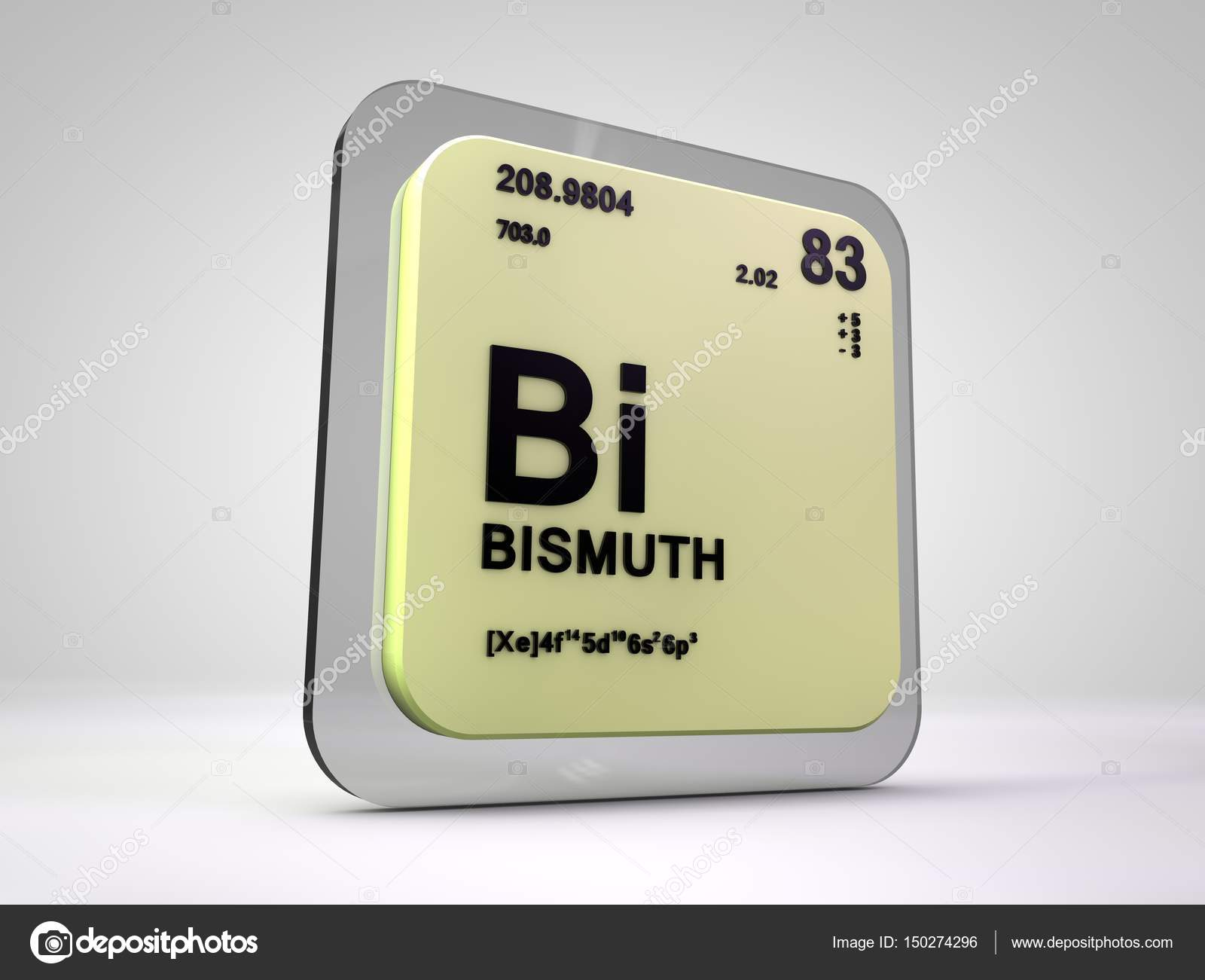 Bismuth Bi Chemical Element Periodic Table 3d Render