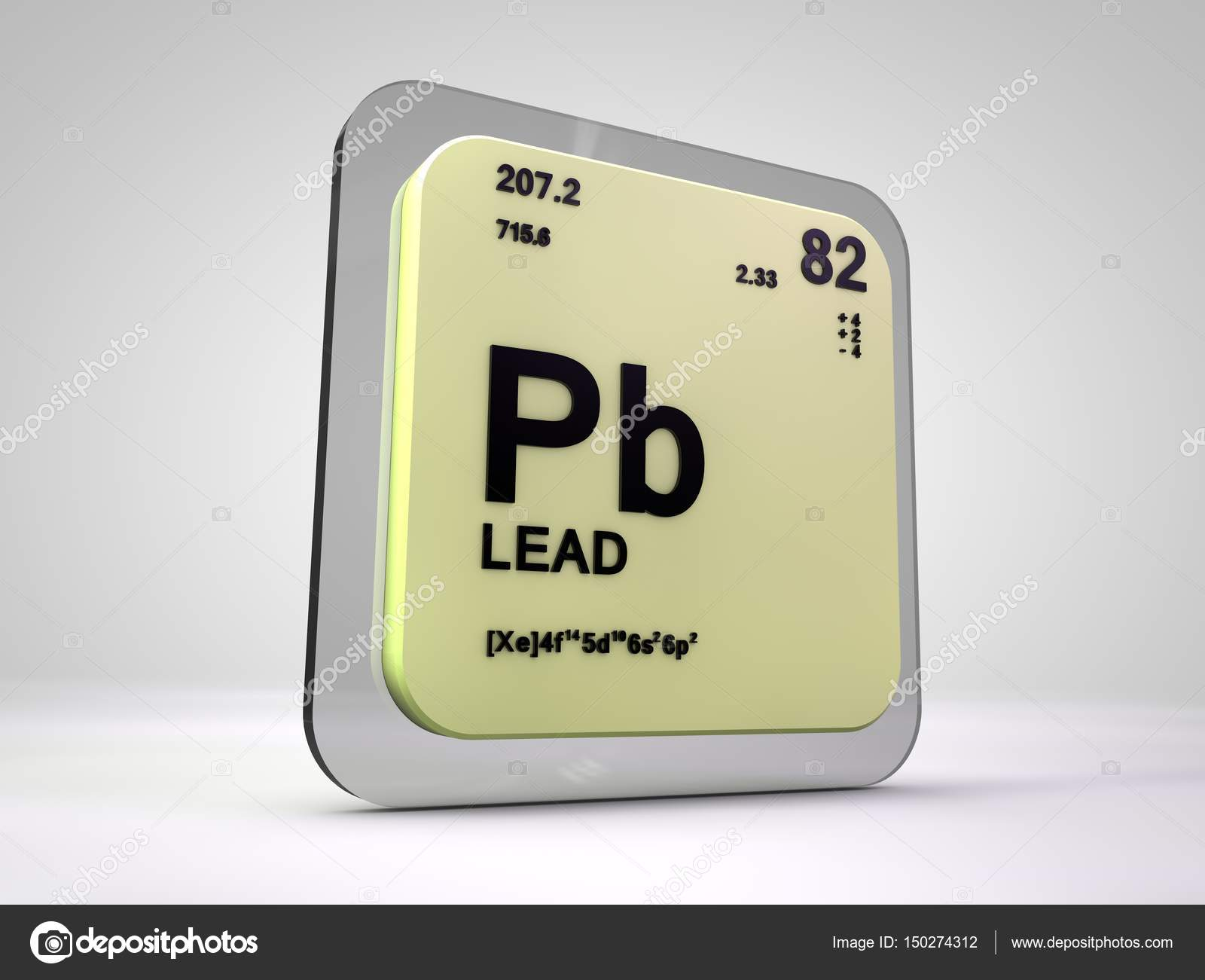 Lead pd chemical element periodic table 3d render stock lead pd chemical element periodic table 3d render photo by viking75 urtaz Images