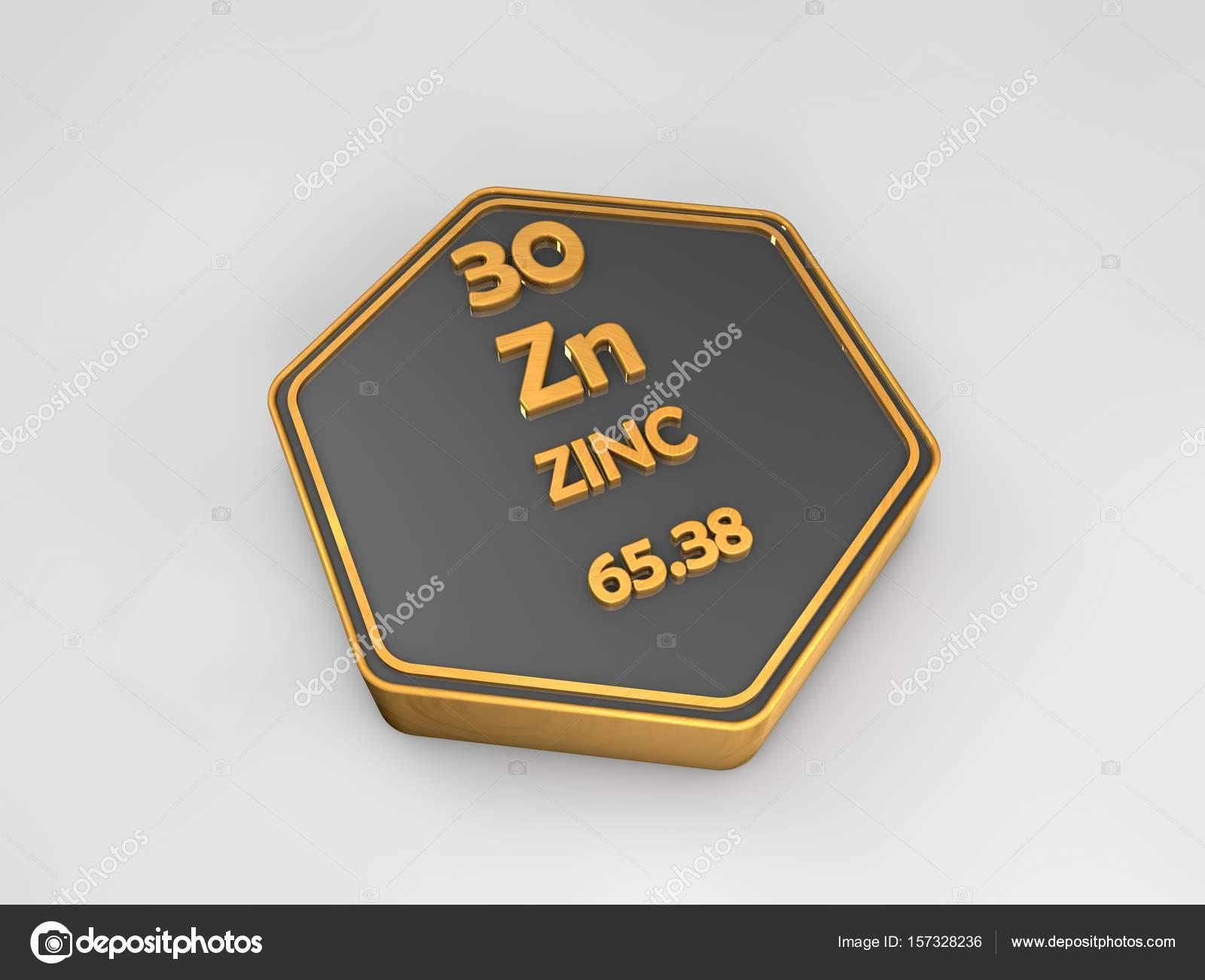 Zinc zn elemento qumico tabla peridica forma hexagonal 3d zinc zn elemento qumico tabla peridica forma hexagonal 3d render fotos de stock urtaz Images
