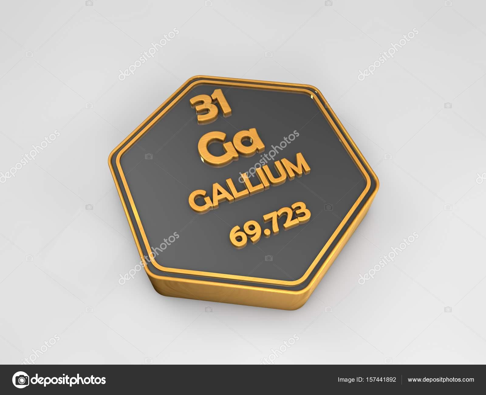 galio ga elemento qumico tabla peridica forma hexagonal 3d render fotos de stock - Tabla Periodica De Los Elementos Galio