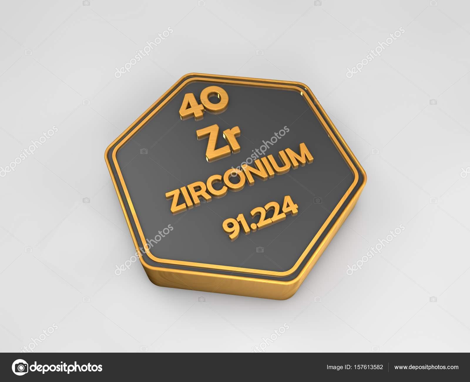 Circonio zr elemento qumico tabla peridica forma hexagonal 3d circonio zr elemento qumico tabla peridica forma hexagonal 3d render urtaz Choice Image