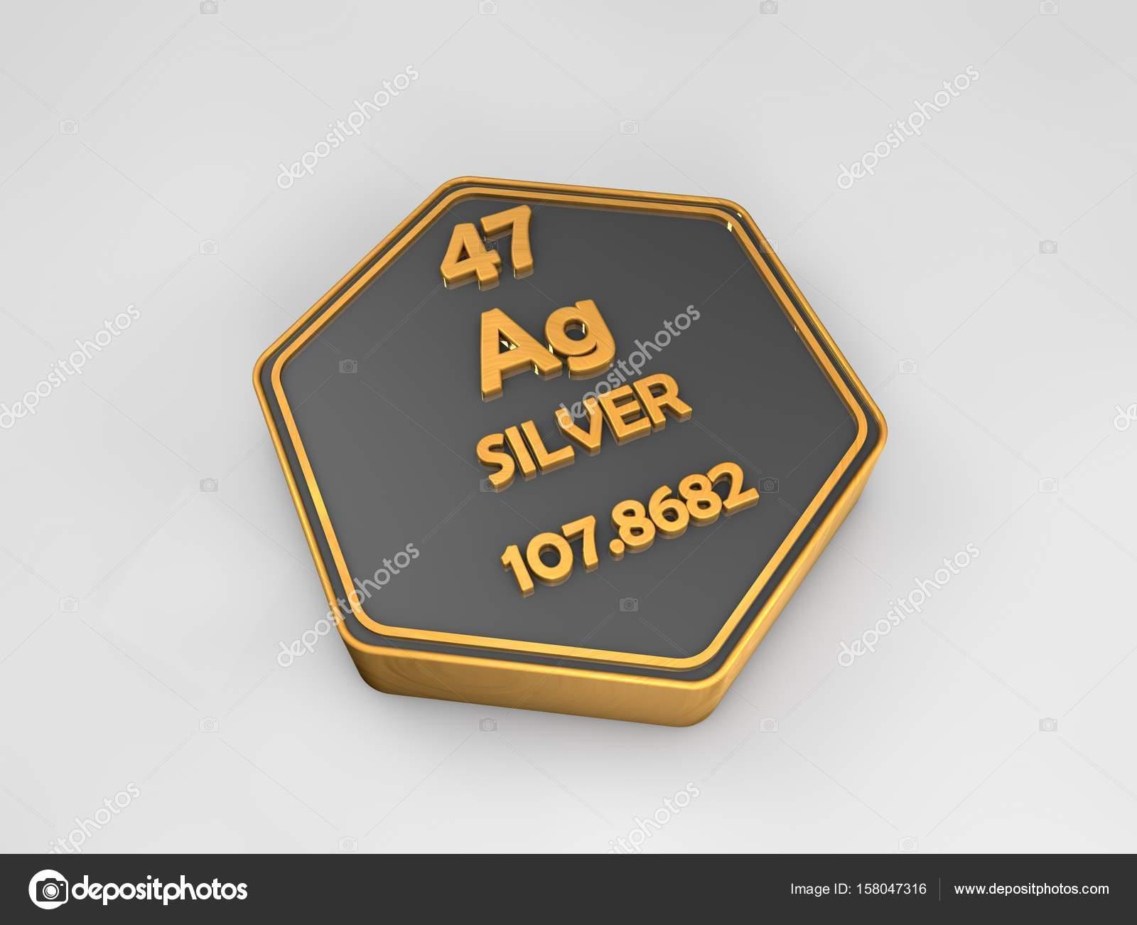Plata ag elemento qumico tabla peridica forma hexagonal 3d plata ag elemento qumico tabla peridica forma hexagonal 3d render fotos de stock urtaz Choice Image