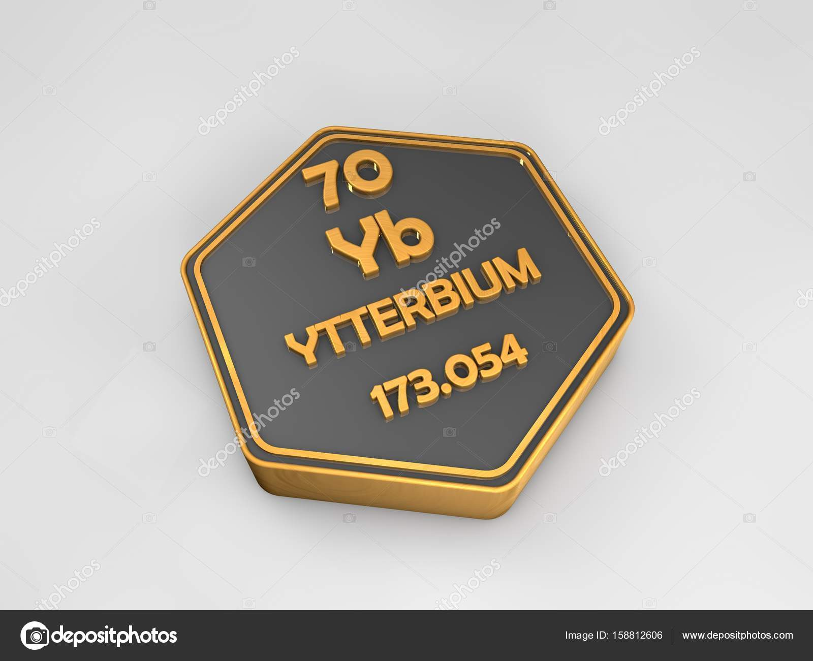 Ytterbium yb chemical element periodic table hexagonal shape 3d ytterbium yb chemical element periodic table hexagonal shape 3d render stock photo urtaz Images