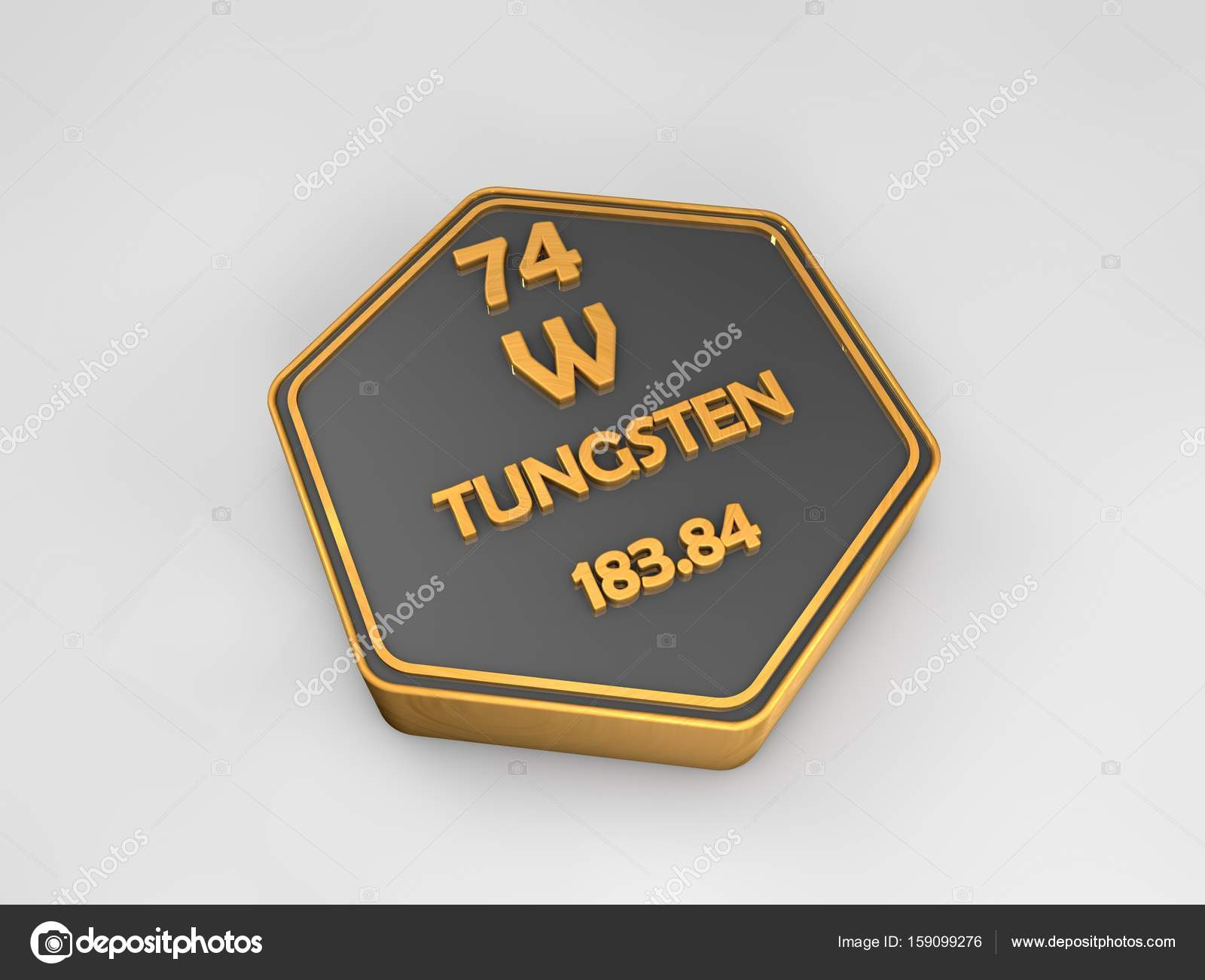 Tungsten w chemical element periodic table hexagonal shape 3d tungsten w chemical element periodic table hexagonal shape 3d render stock photo urtaz Gallery