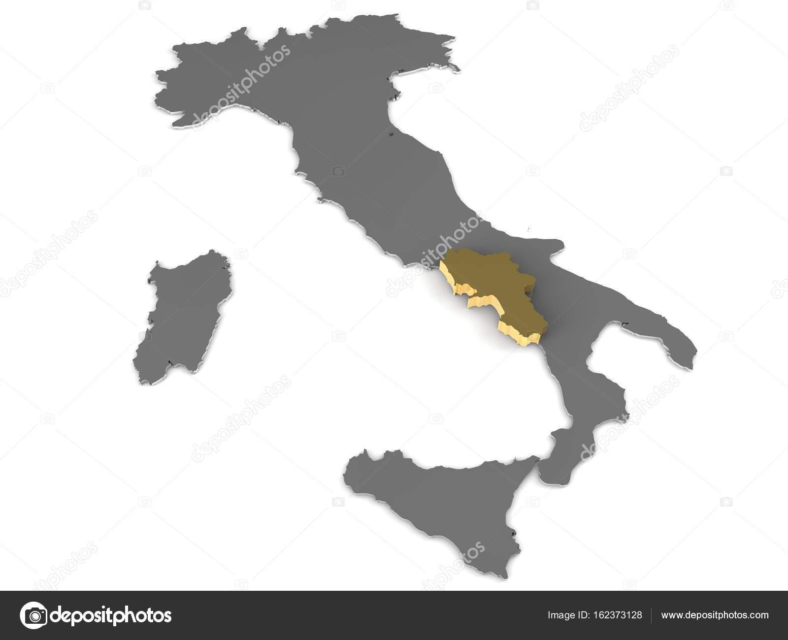 Mapa Italie Kampanie Mapa