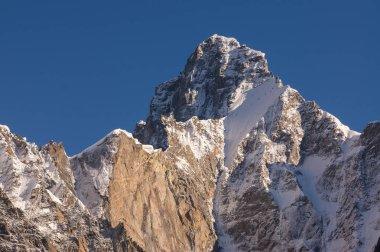 Beautiful peak of Karakorum mountain range, K2 trek, Pakistan, Asia stock vector