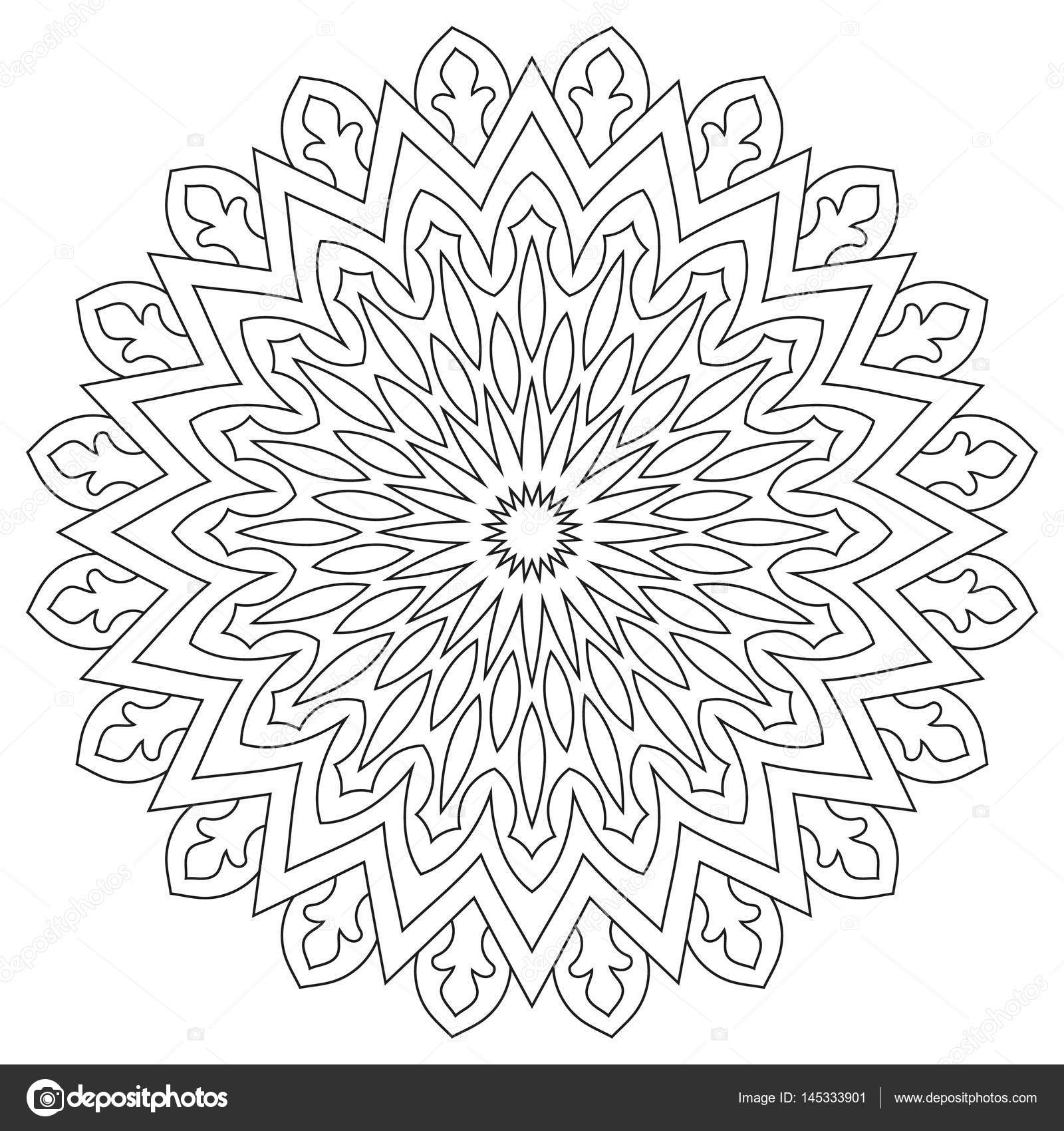 Kreisförmige geometrische Ornament. Runde Gliederung Mandala ...