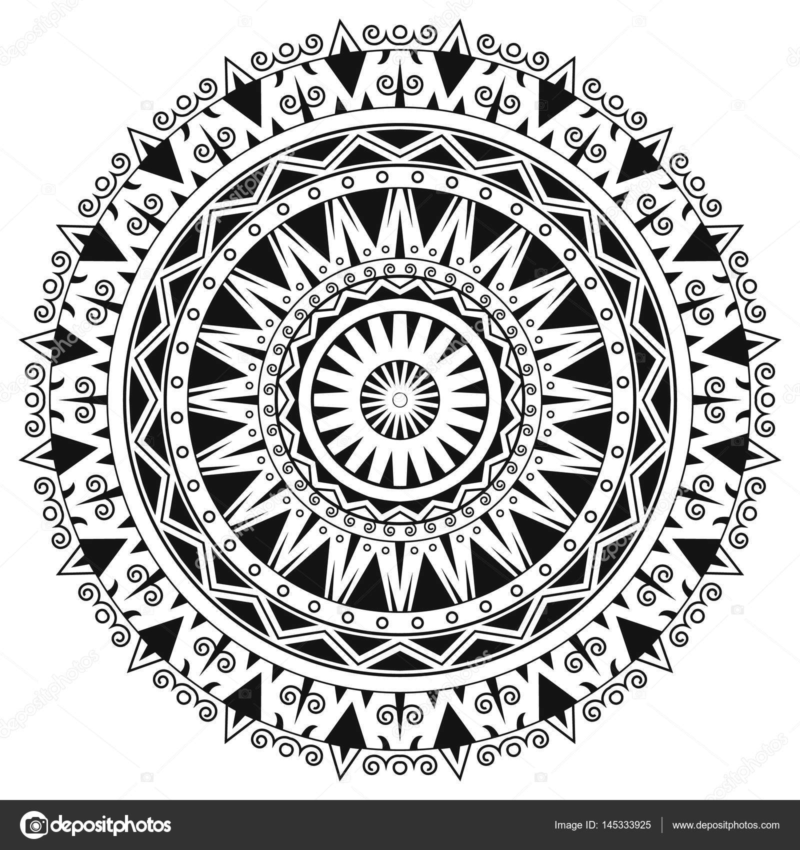 Ancient Gothic Ornament Mandala On White Background Vector By Ladika888