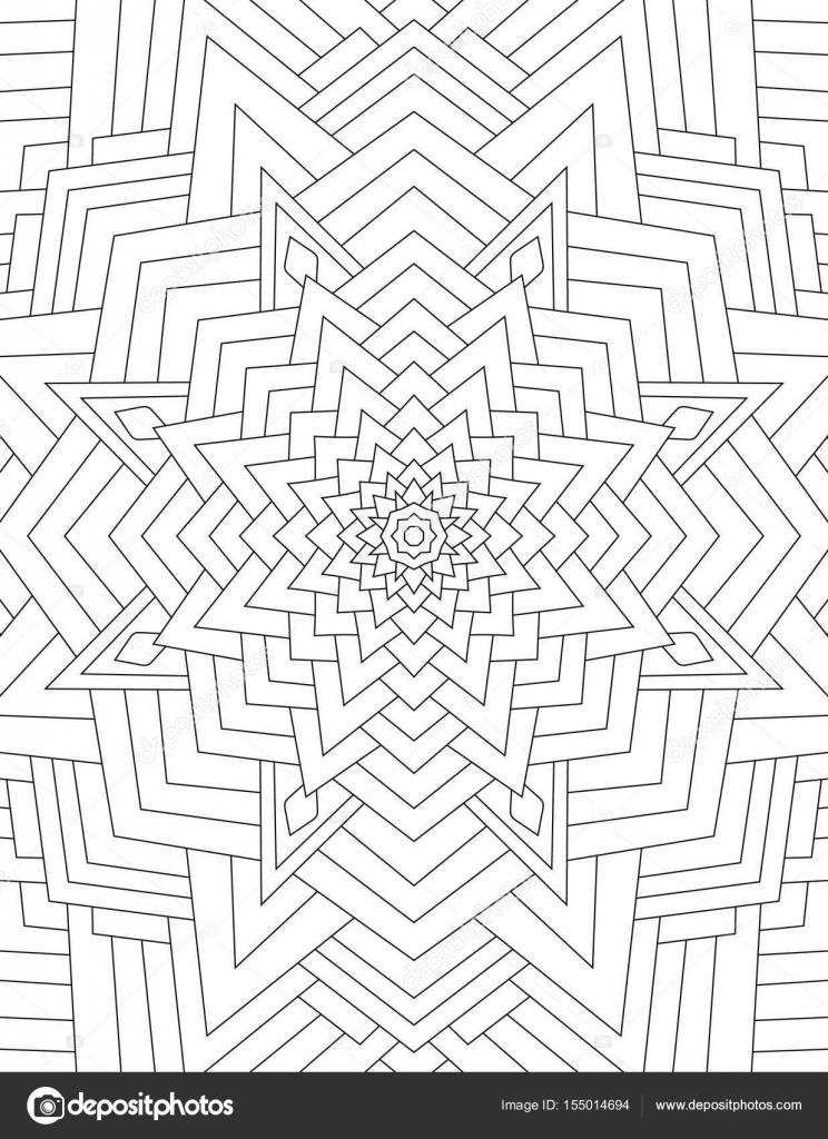 Página para colorear libro para mandala adultos dibujado con líneas ...