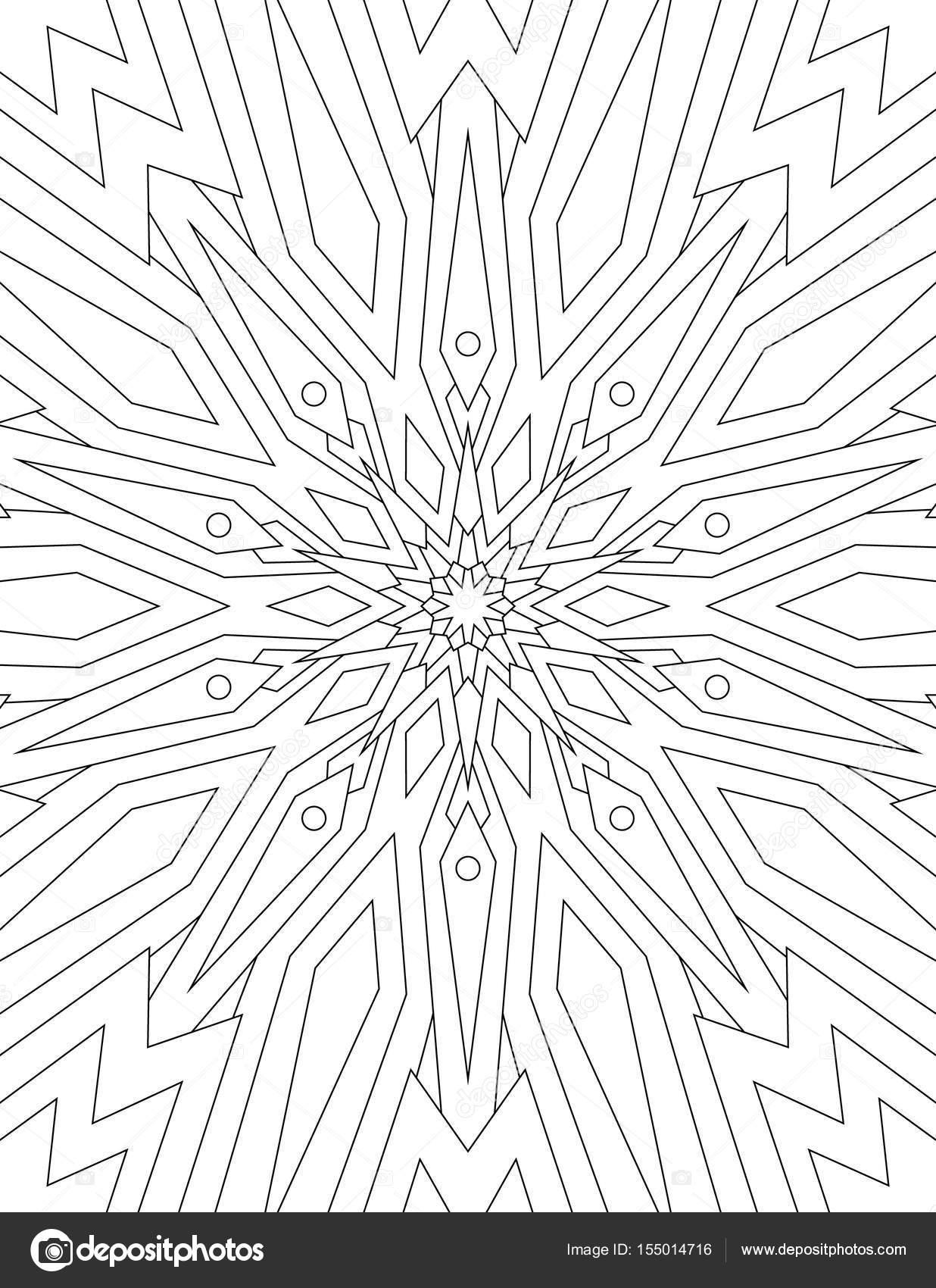 Dorable Coloriage Mandala Ethnique Lignes Symetriques Mold ...