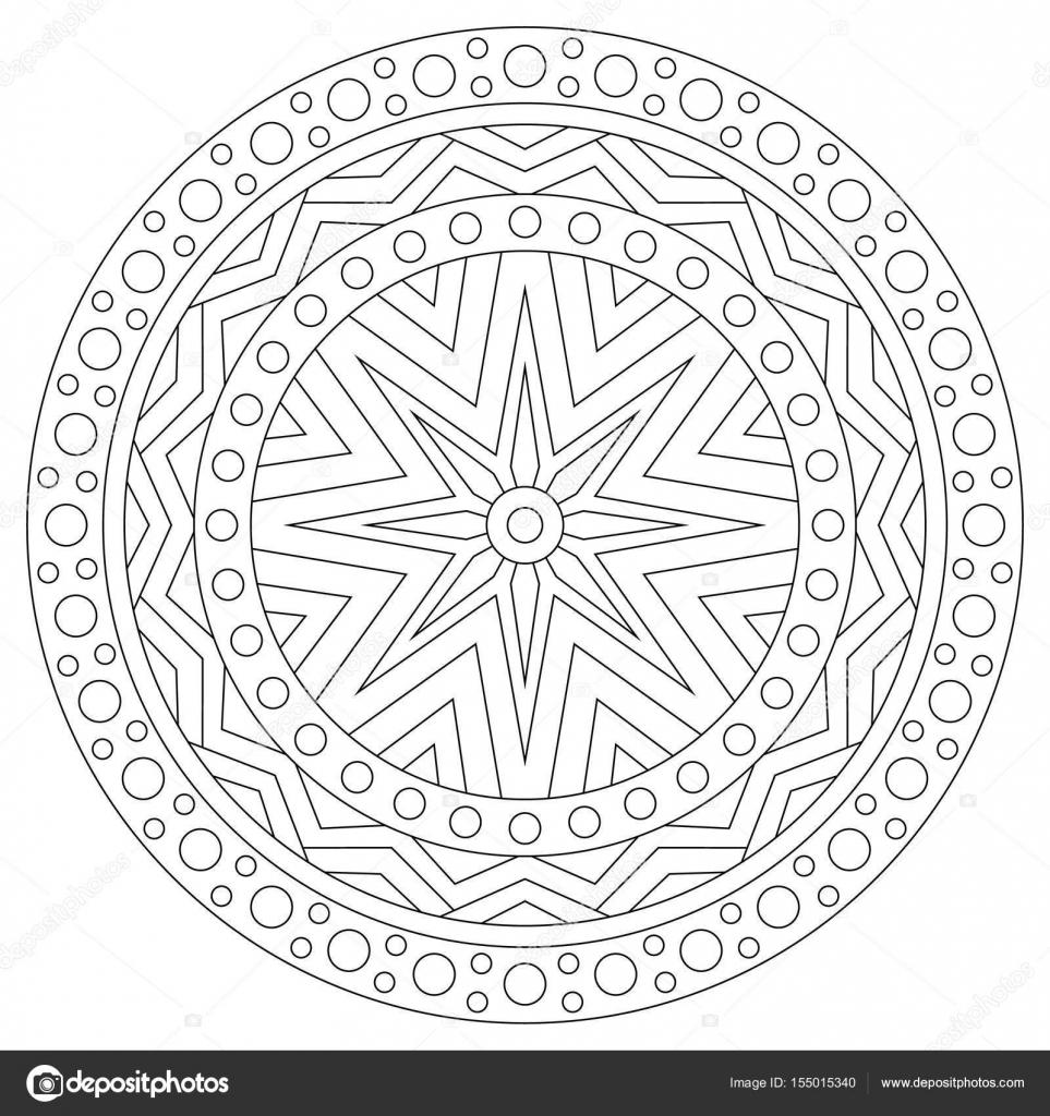 zwart wit mandala kleurplaten pagina voor volwassenen