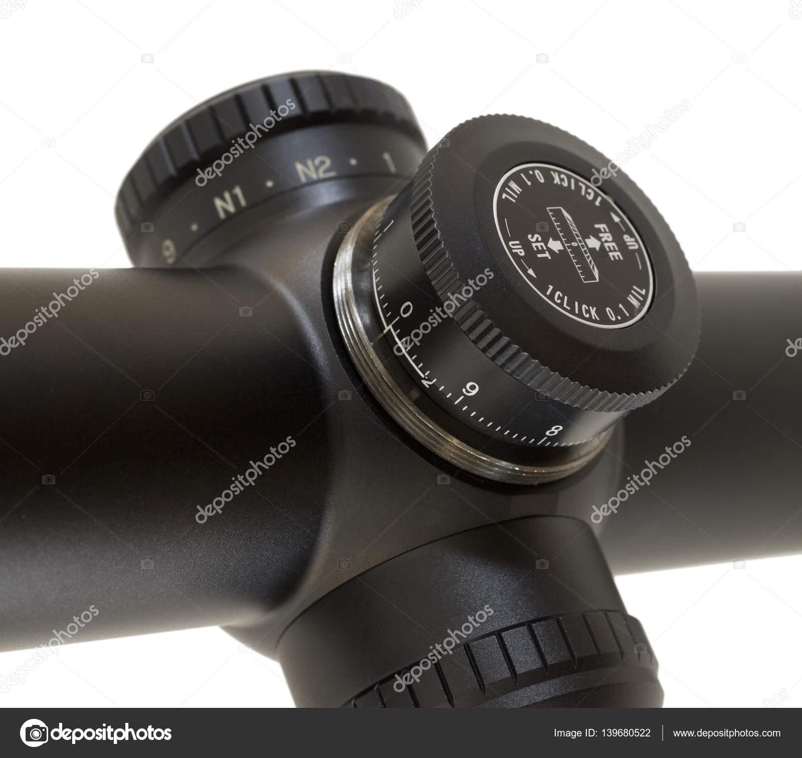 elevation adjustment on a rifle scope stock photo gsagi 139680522