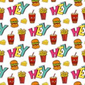 Fastfood seamless pattern