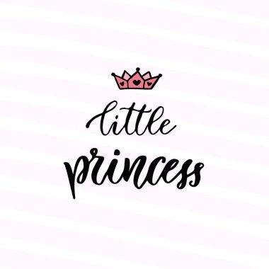 Modern calligraphy. Little Princess