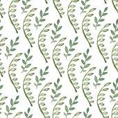 zöld levelek zökkenőmentes minta