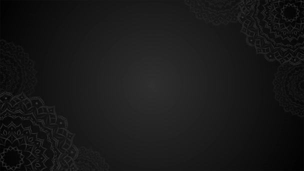 Mandala Black Color Loop A szöveg háttere