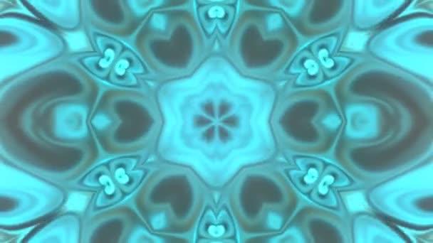 Gyönyörű absztrakt kaleidoszkóp, amely ragyog, ragyogó fény, amely szabályozza a finom mozgások, színek tele virág formák, fekete hátterek