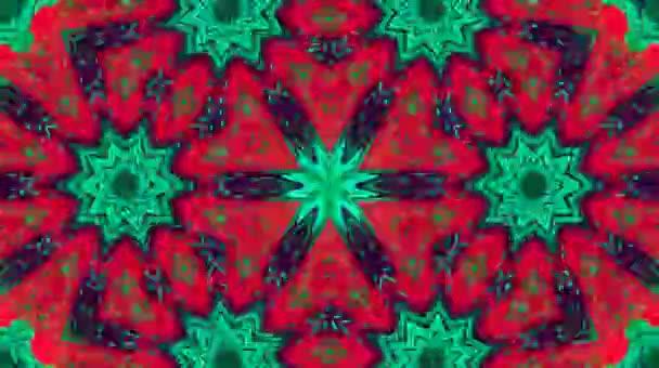 Gyönyörű elvont videók, hogy ragyog, fényes fény, amely szabályozza a színes mozgások virág formák, fekete hátterek