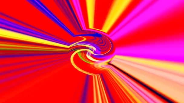 Gyönyörű elvont videók, hogy ragyog, fényes fény, amely szabályozza a színes mozgások kerek formák, fekete hátterek