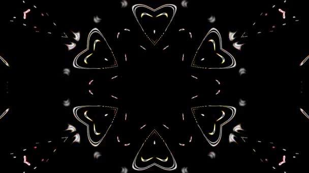 Krásná abstraktní videa, která svítí, svítí světlo, které řídí jemné pohyby v plné barvě s formou tekoucí vody, černé pozadí