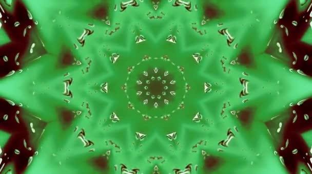 Jasné abstraktní světlo vládnoucí plnou barvu, kaleidoskop, černé pozadí