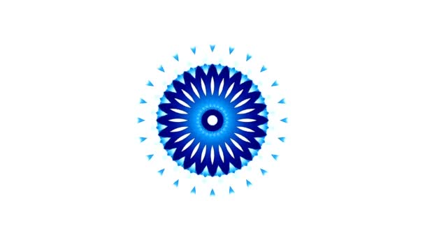 Round animation. Abstract background. Move through hyperspace with bright circles in blue on a white background. Modern colored wallpaper