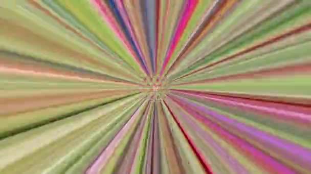 Krásné video Abstraktní pozadí linií v vícebarevné textuře. Tekutina s barevným odrazem. Pozadí vytváří animaci. Bezešvý kruh