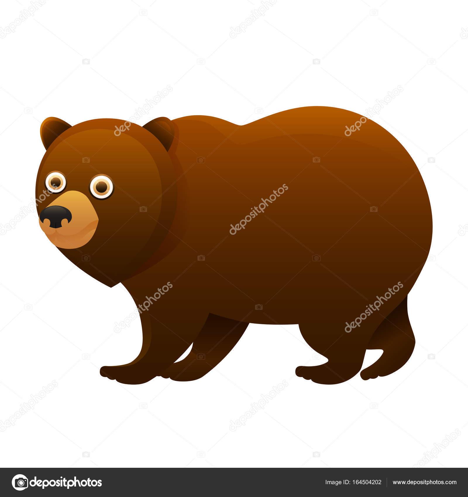 urso marrom bonito dos desenhos animados o personagem vetores de