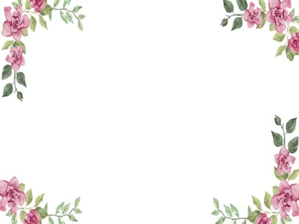abstraktní animace hladké květinové video s rámečky, nejlepší pro svatební pozvání, pozdrav, Valentýna a další účel