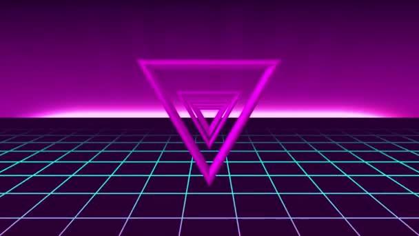 hurok 80-as évek neon futurisztikus háttér