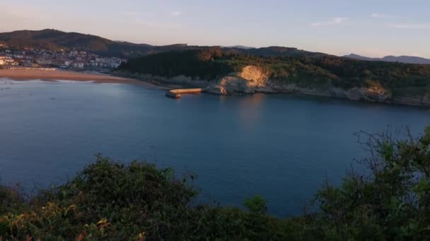 Views of the bay of Plencia from the top of the cliff in a sunny summer day