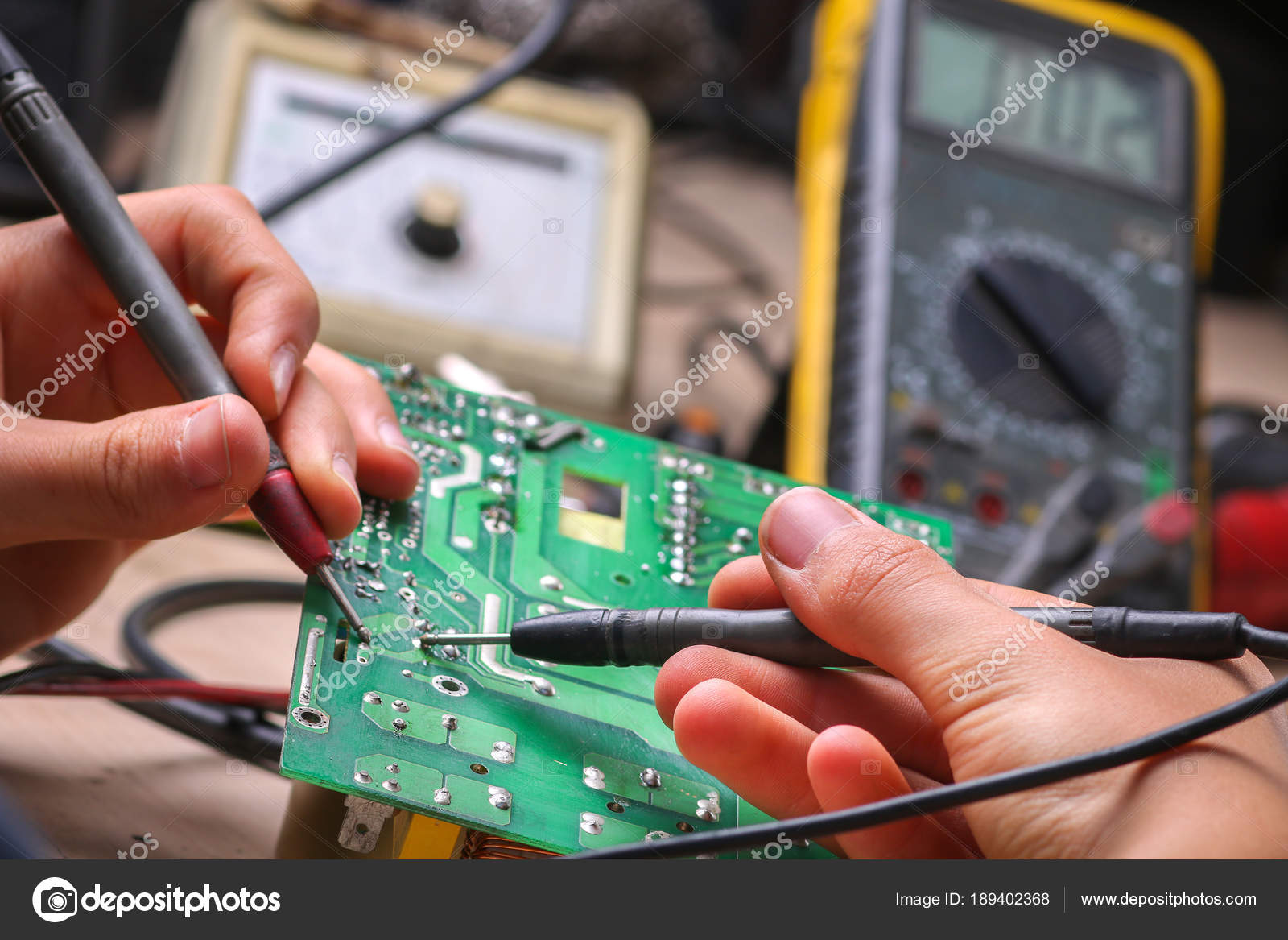 Repair Of Electronic Devices Tin Soldering Parts Stock Photo Repairing Computer Circuit Board Royalty Free Image