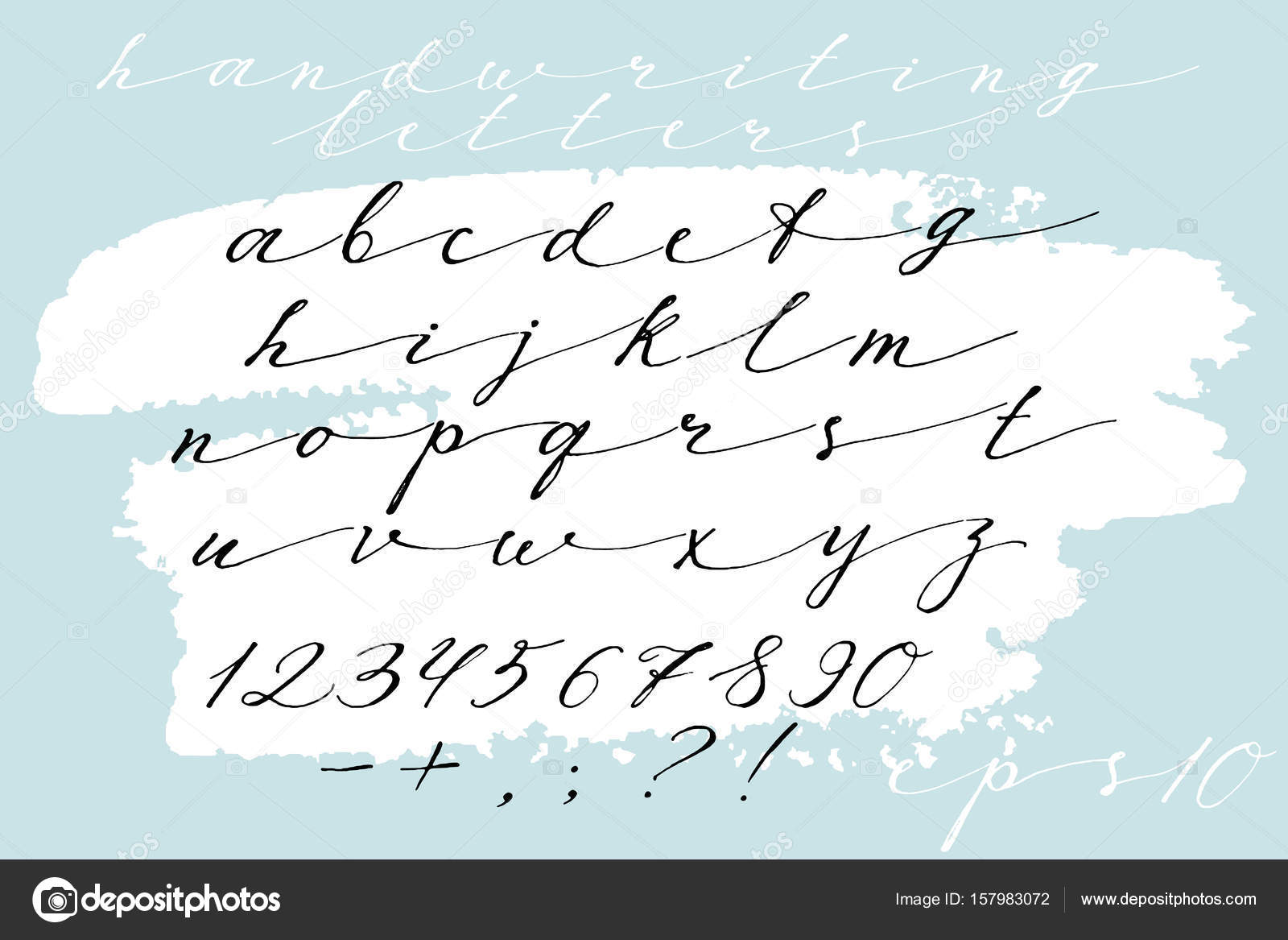 Calligraphic Font Handwritten Alphabet In Brush Style Modern Script Vector Handmade Letters By Ozzichka
