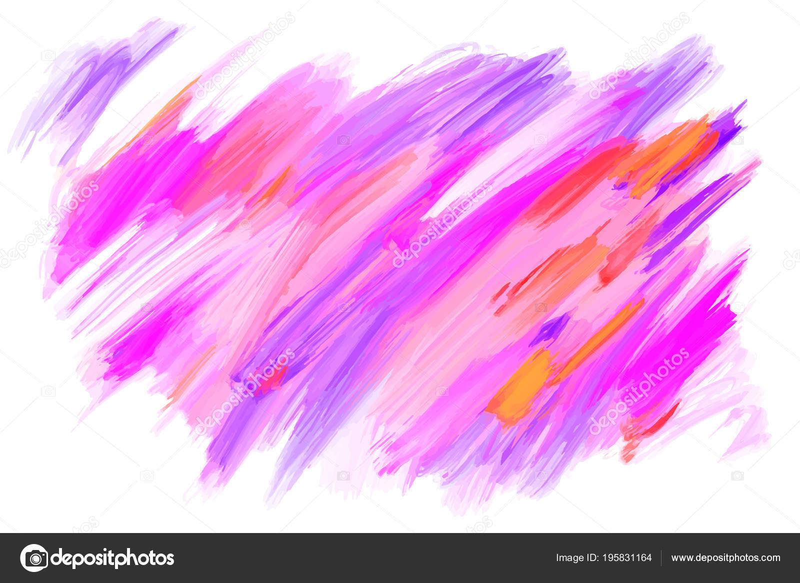 32bf5adbf8 Vektor kézzel rajzolt ecset foltok és a stroke. Színes festett háttér. Olaj  festmény hatású