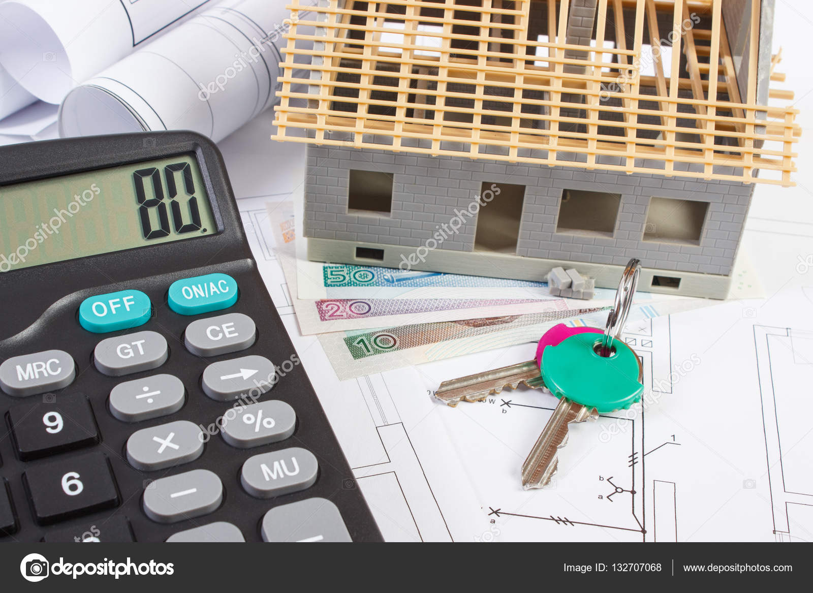 House under construction keys calculator polish currency and house under construction keys calculator polish currency and electrical drawings concept of ccuart Image collections