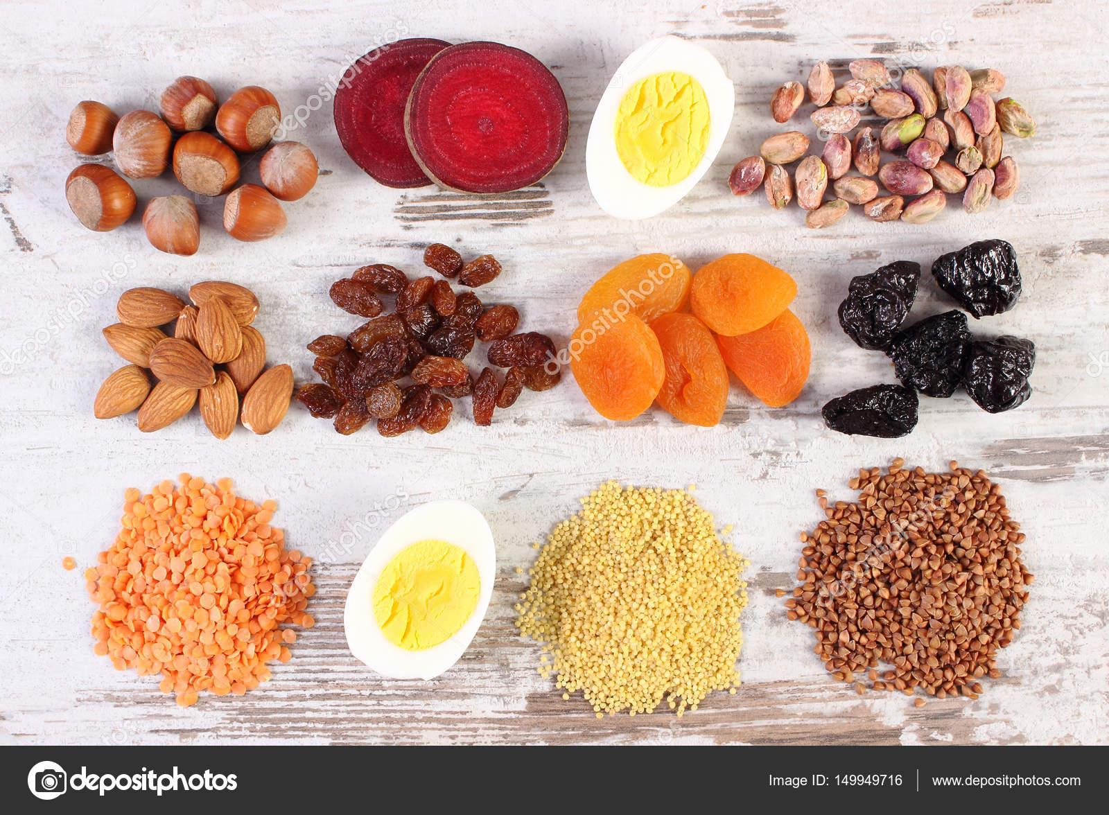 mat som innehåller järn