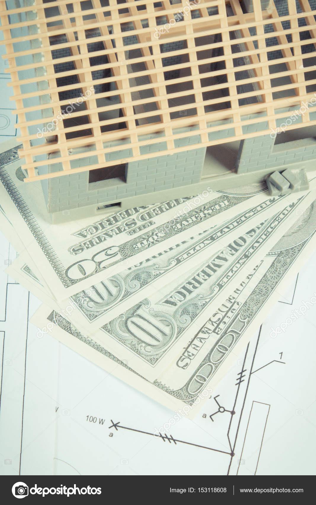Captivating Haus Unter Bau  Und Währungen Dollar Auf Elektrische Zeichnungen Und  Diagramme Für Projekt Heimat Kosten