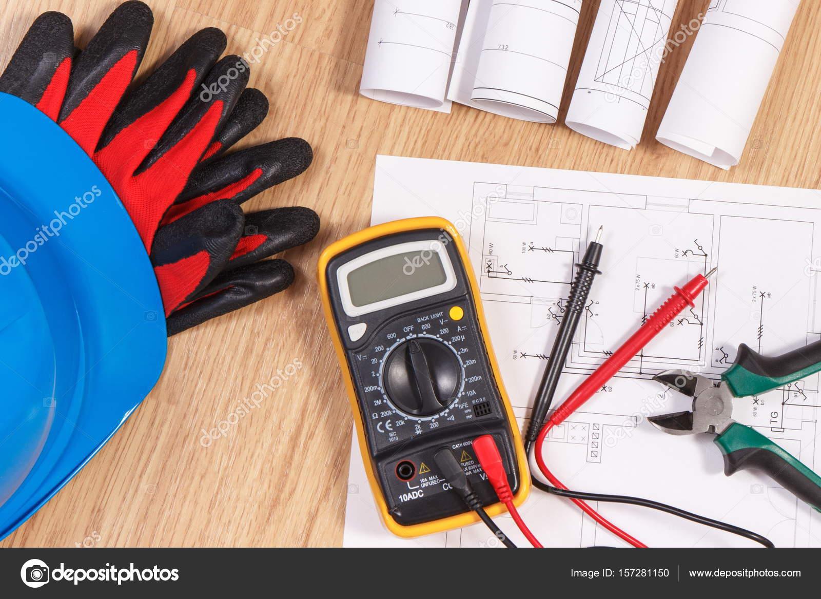 Elektrische Zeichnungen, multimeter für die Messung in der ...