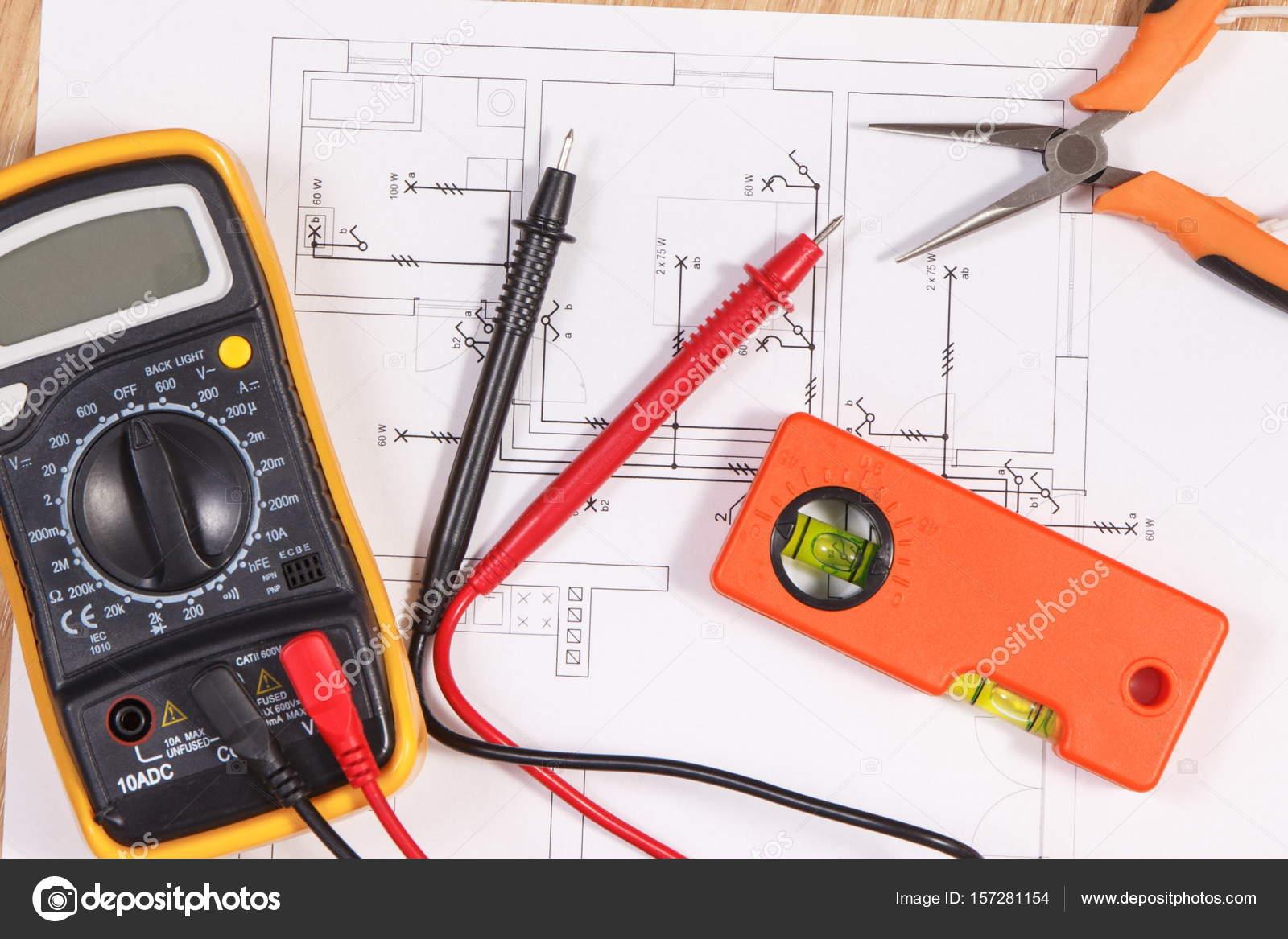 Schaltpläne, multimeter für die Messung in der Elektroinstallation ...