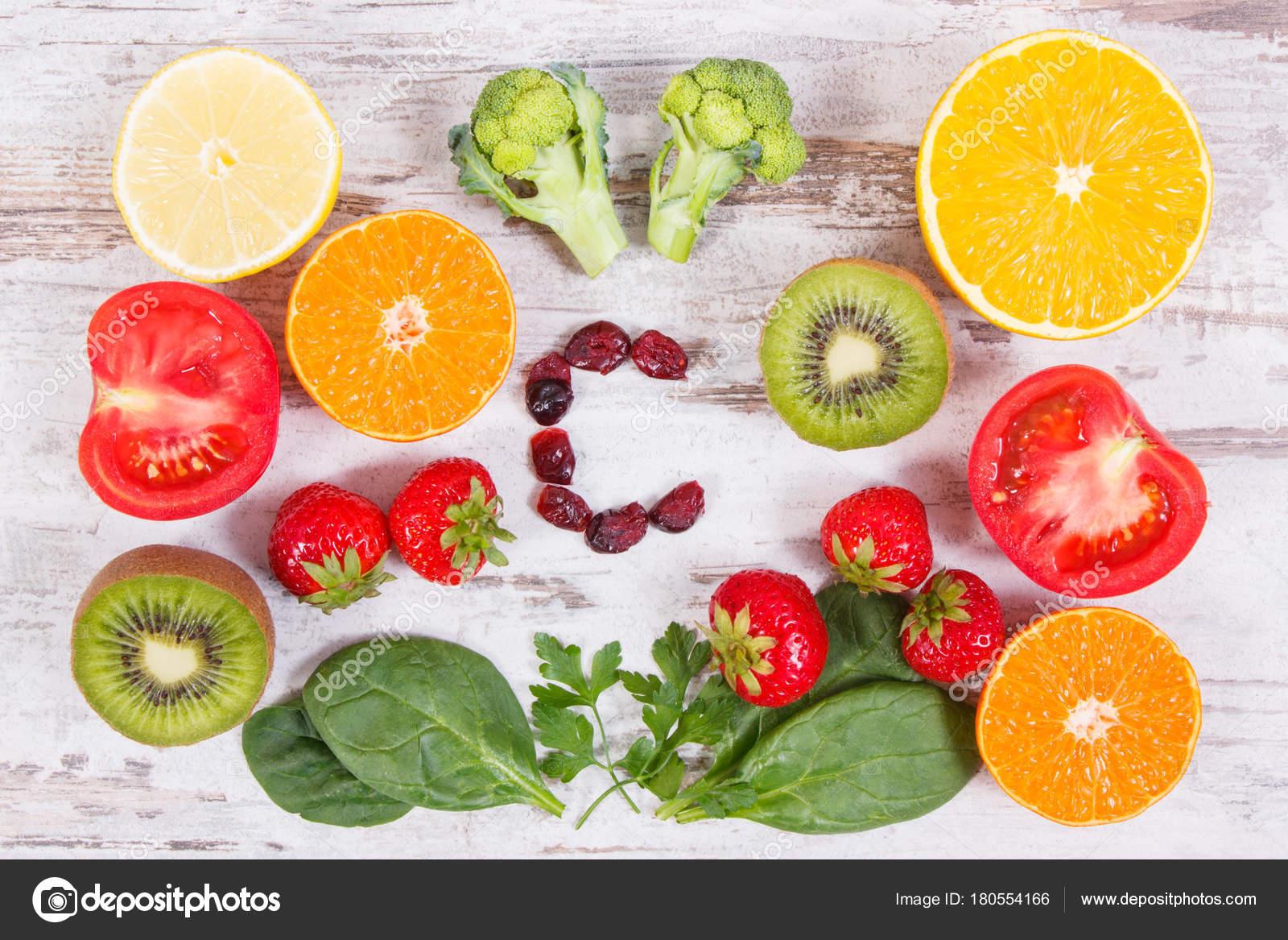 frutas que contienen vitamina c y e