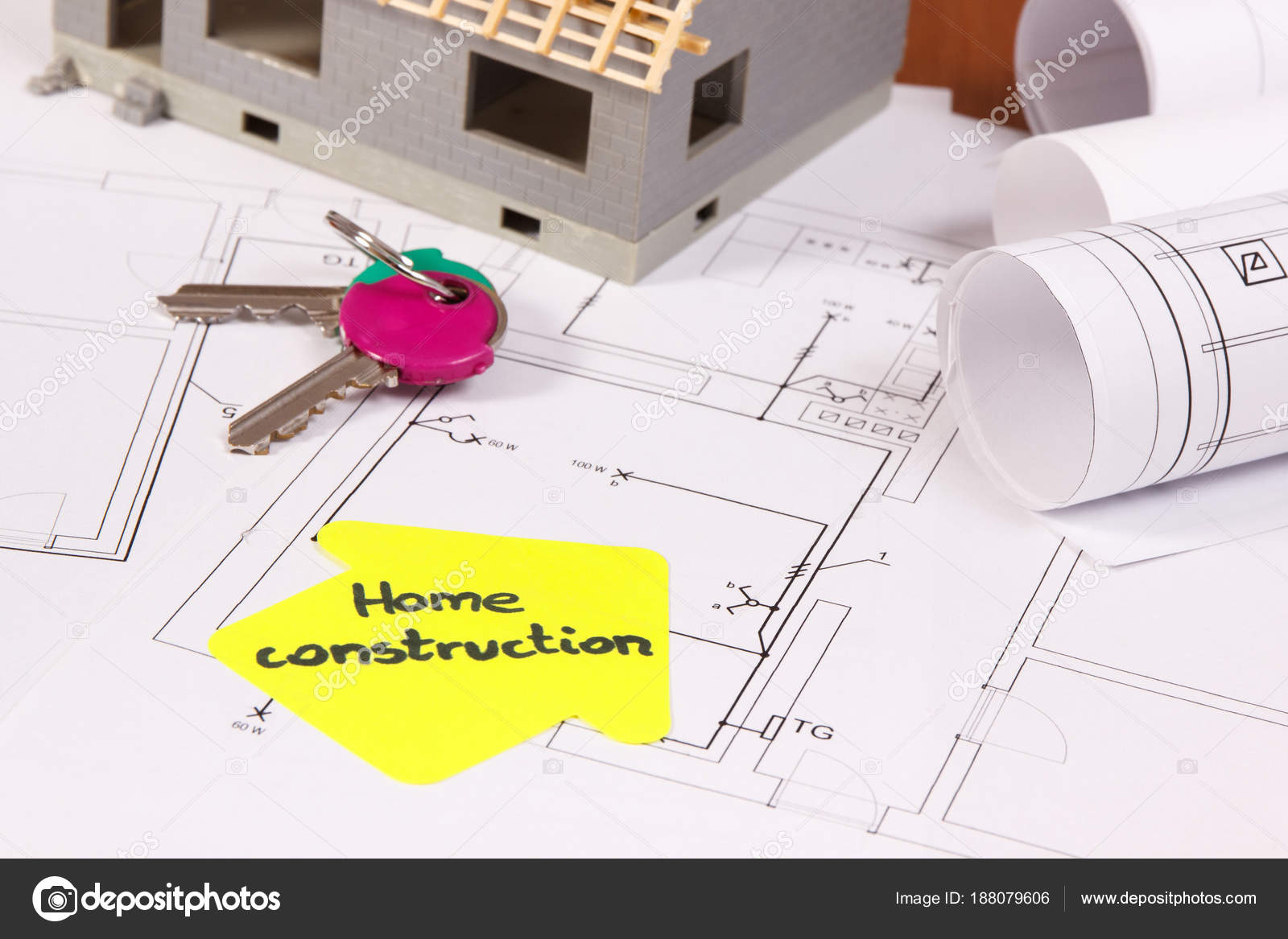 Schemi Elettrici Casa : Chiavi di casa casa in costruzione e schemi elettrici per lavori