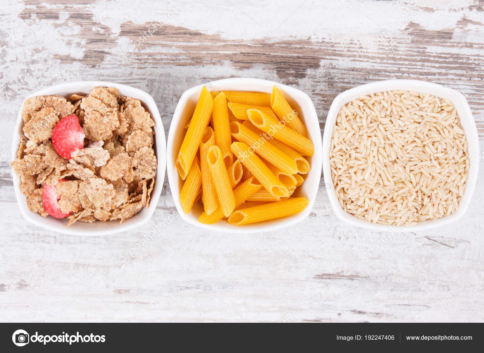 los alimentos que contienen hidratos de carbono