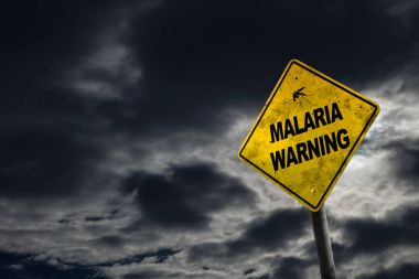 Malaria Warning Sign With Copy Space