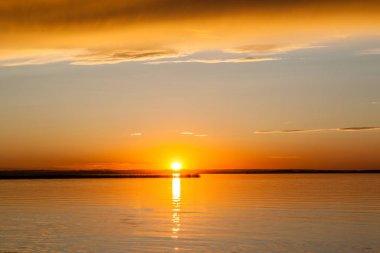 Golden Sunset on Buffalo Lake, Alberta