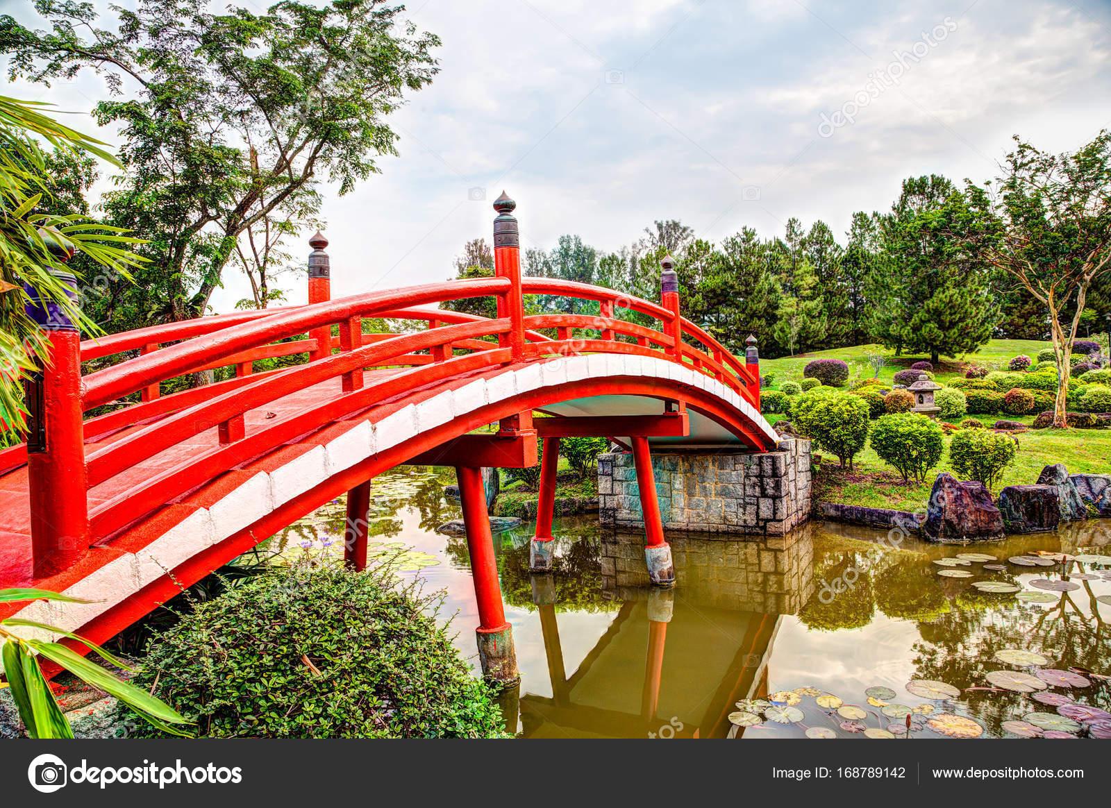 Pont De Jardin Japonais A Singapour Photographie Ronniechua