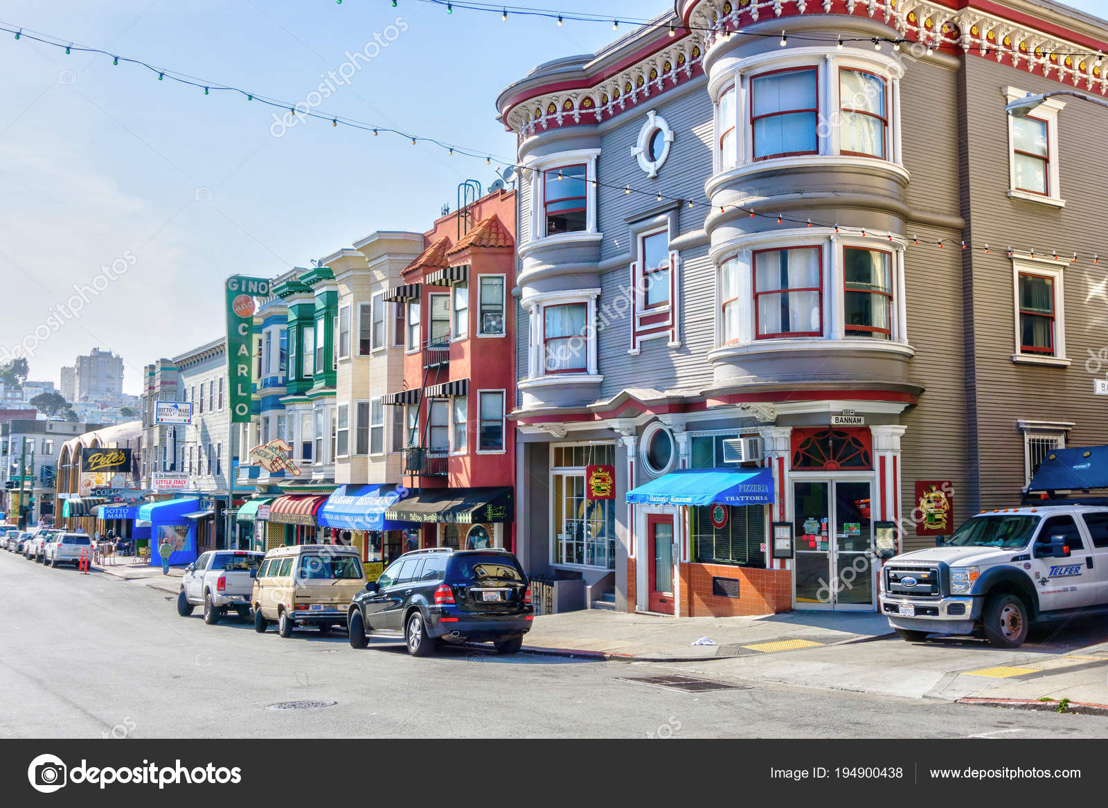 Little Italy In North Beach San Francisco Stock Editorial