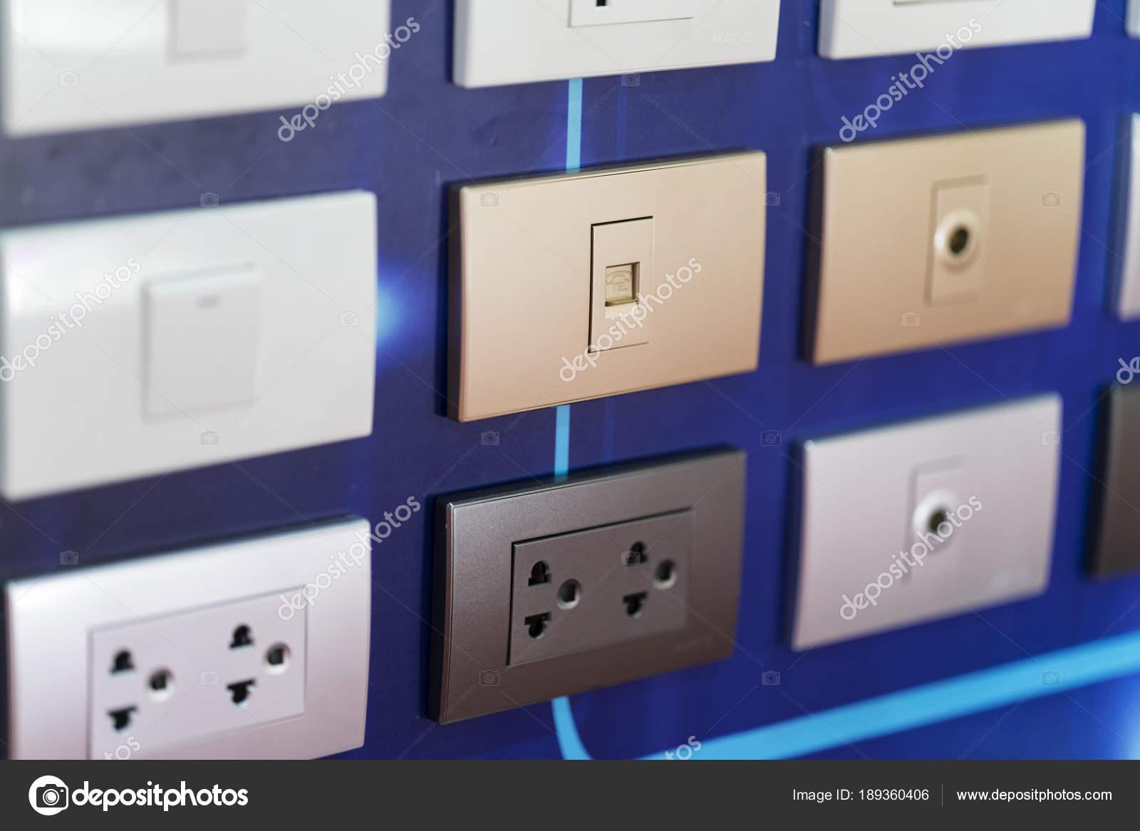 High Tech Design Und Sicherheit Elektrische Steckdose Schalter Lan ...