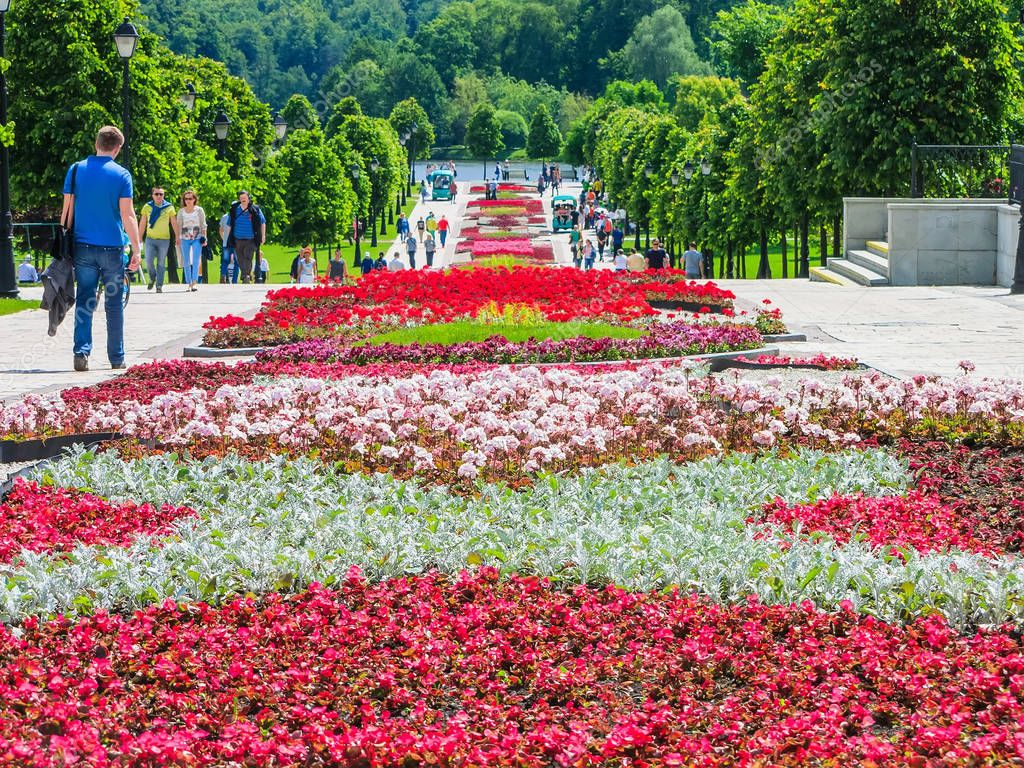 Moscow, Russia - June 18. 2017. general form of Park Complex Tsaritsyno in summer