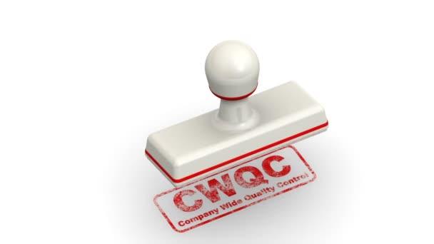 Cwqc. společnost širokou kontrolu kvality indikátor. Razítka listy otisk